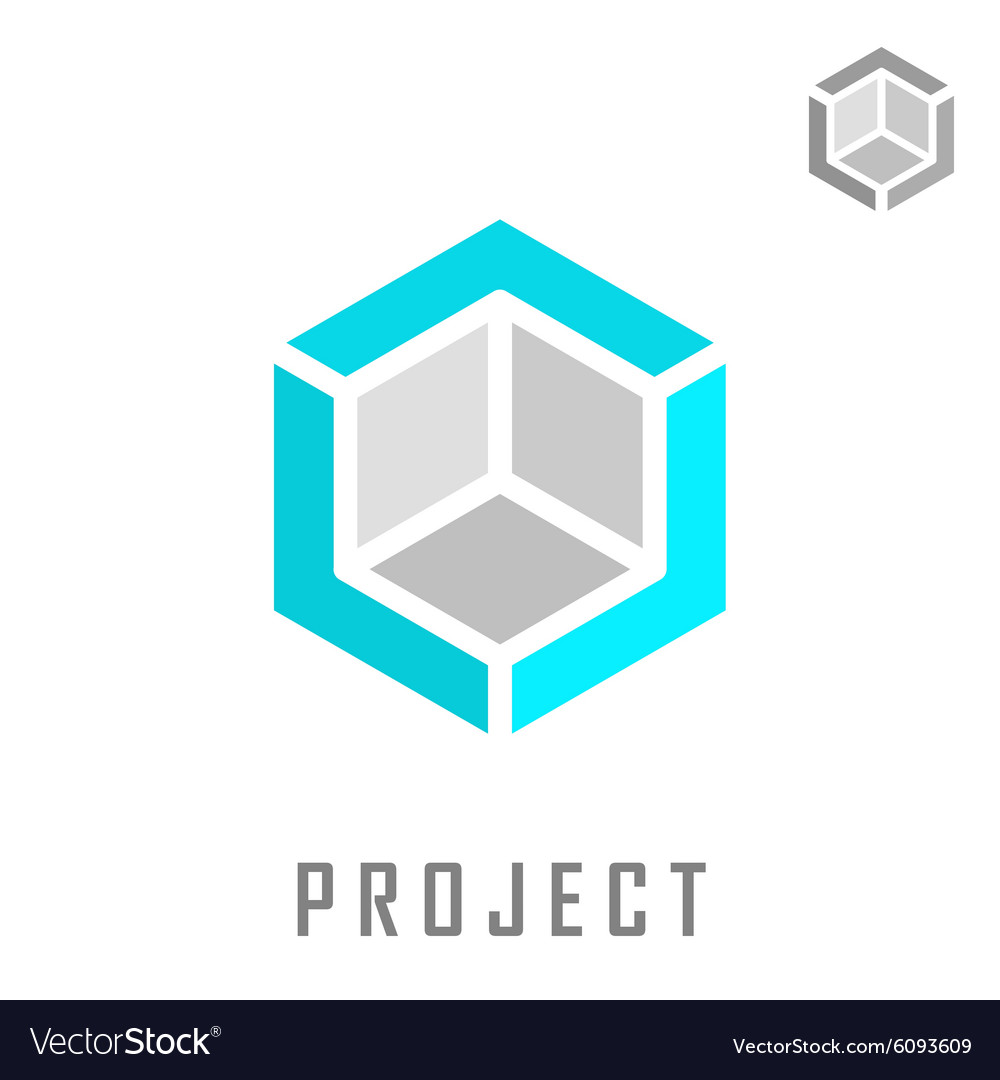Isometric cube construction vector