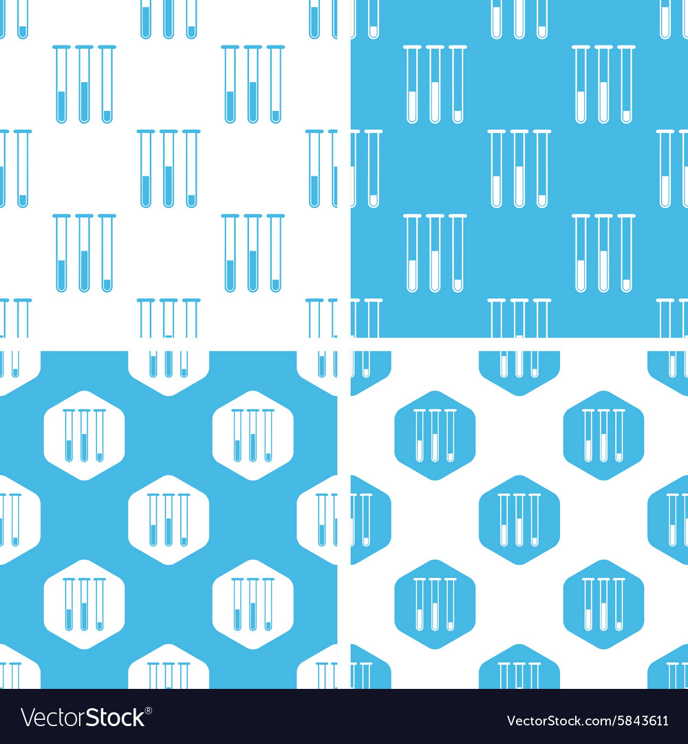 Testtubes patterns set vector