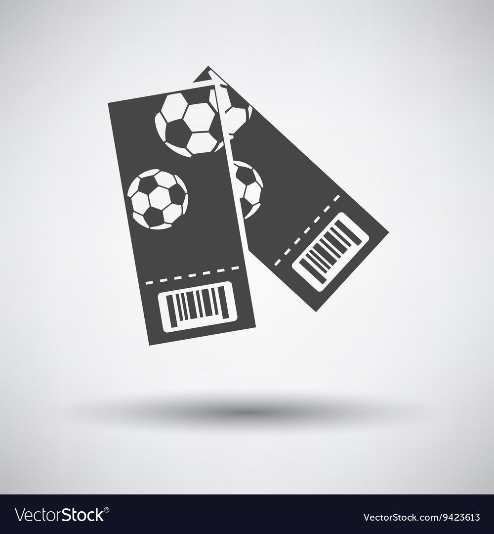 Two football tickets icon vector