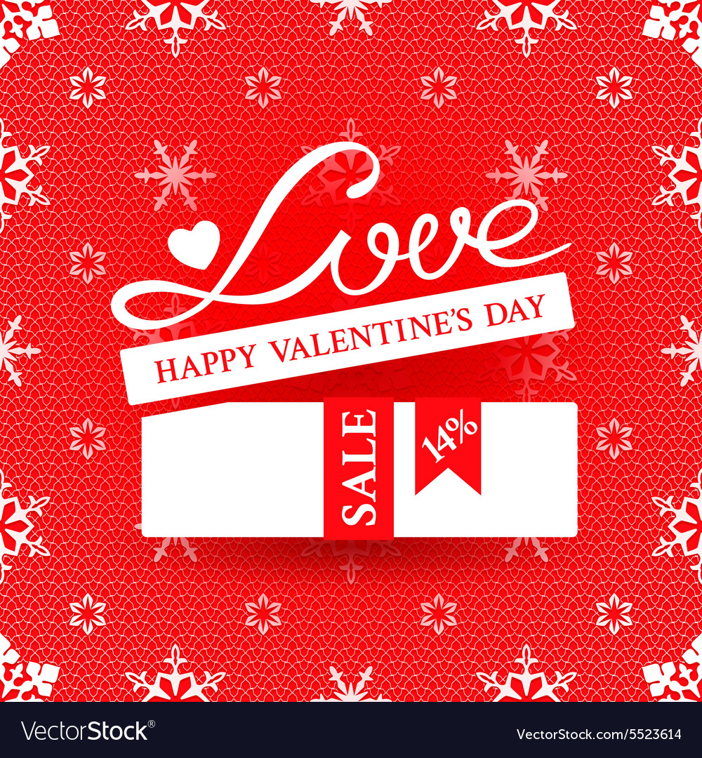 Bright promotional banner for valentines day vector