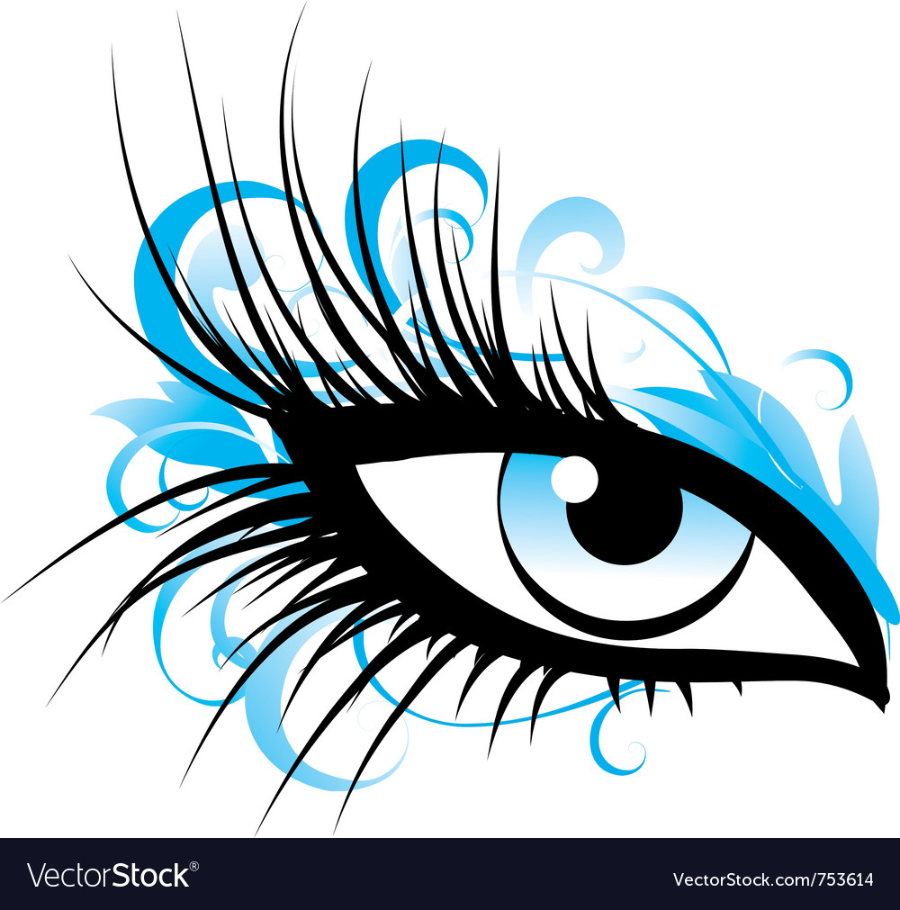 Eye makeup female eye icon vector