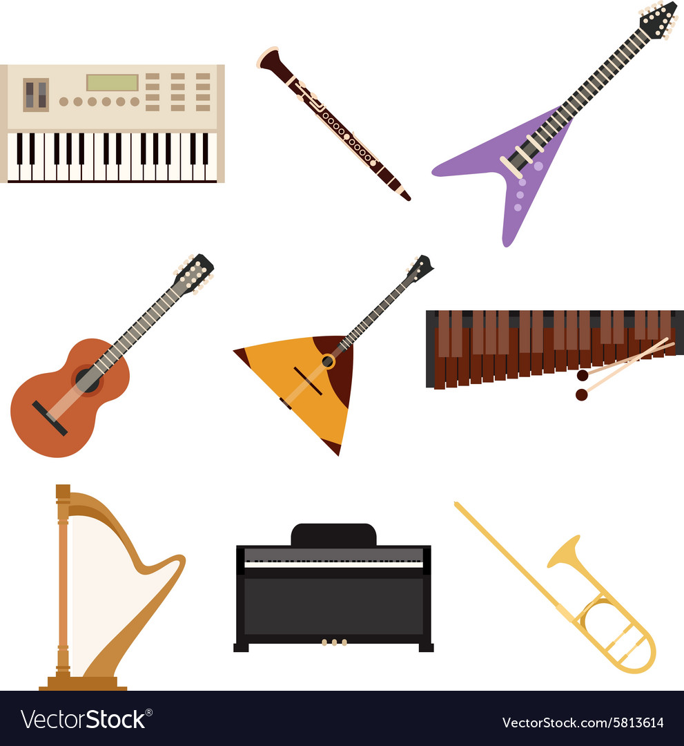 Set of music icons2 vector