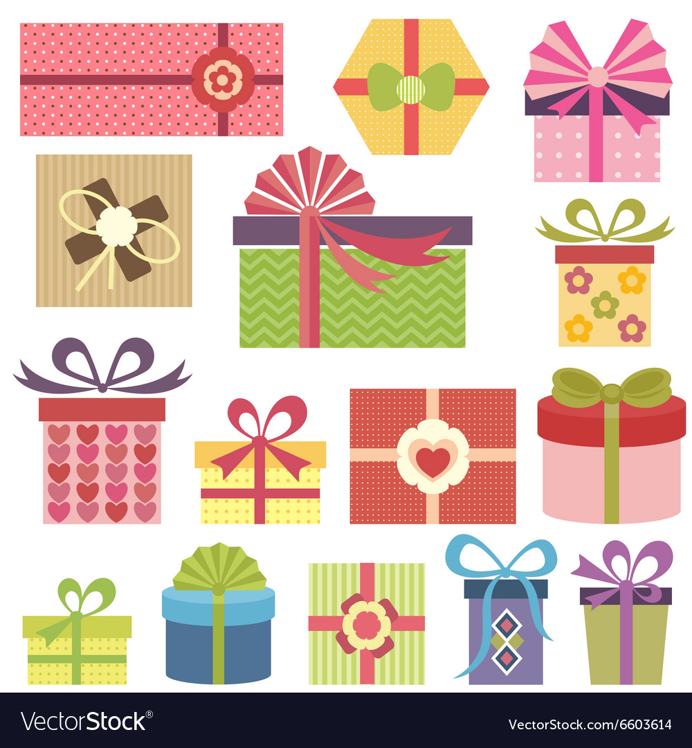 Set of presents vector