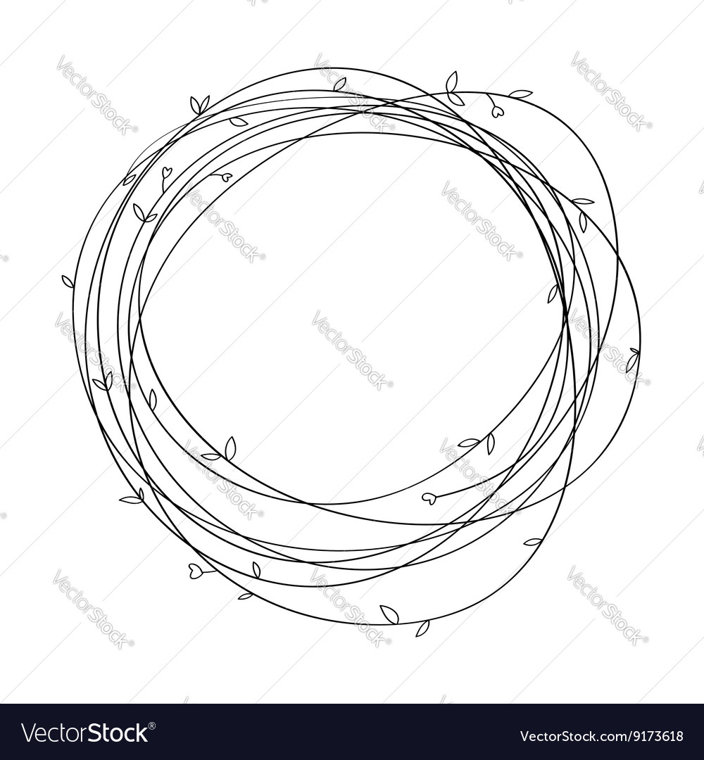 Vintage decorative wreath vector