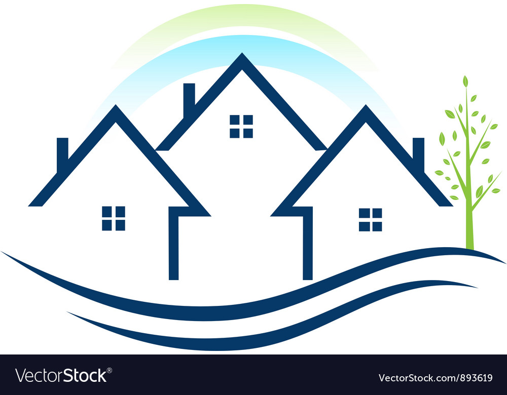 Houses apartments logo vector