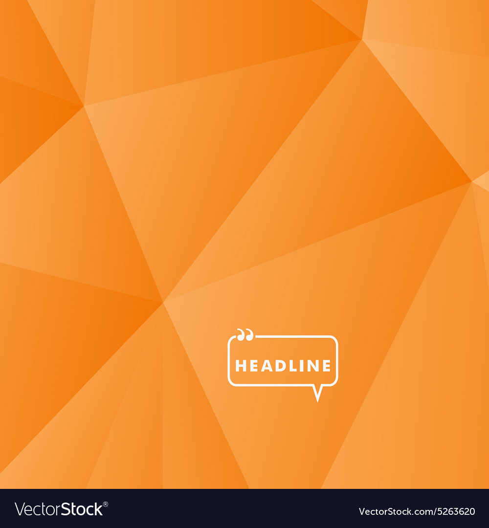 Abstract background orange triangle vector