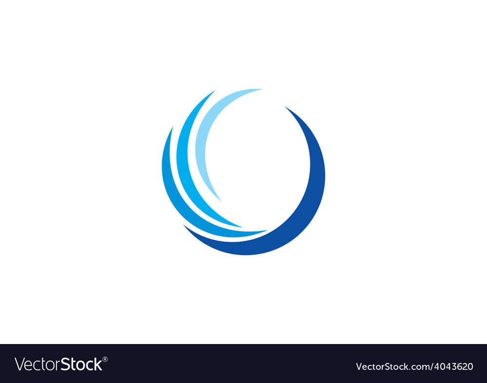 Abstract swirl round logo vector