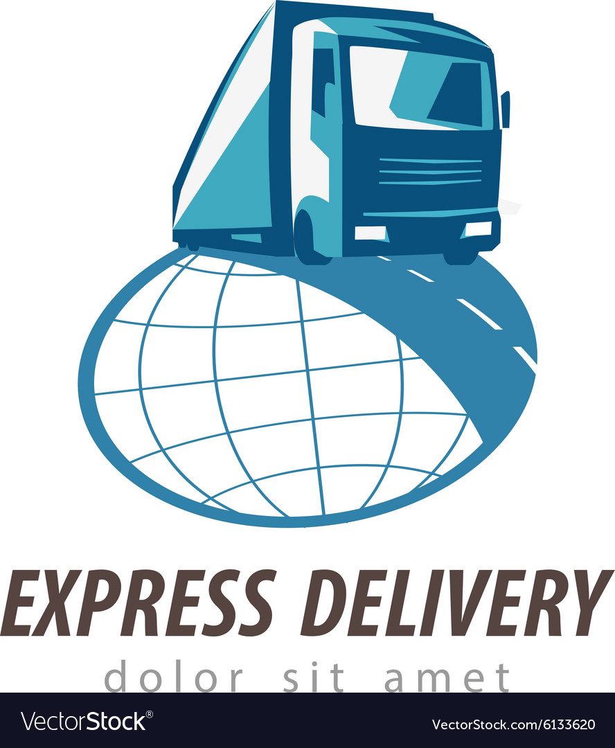 Delivery logo design template vector
