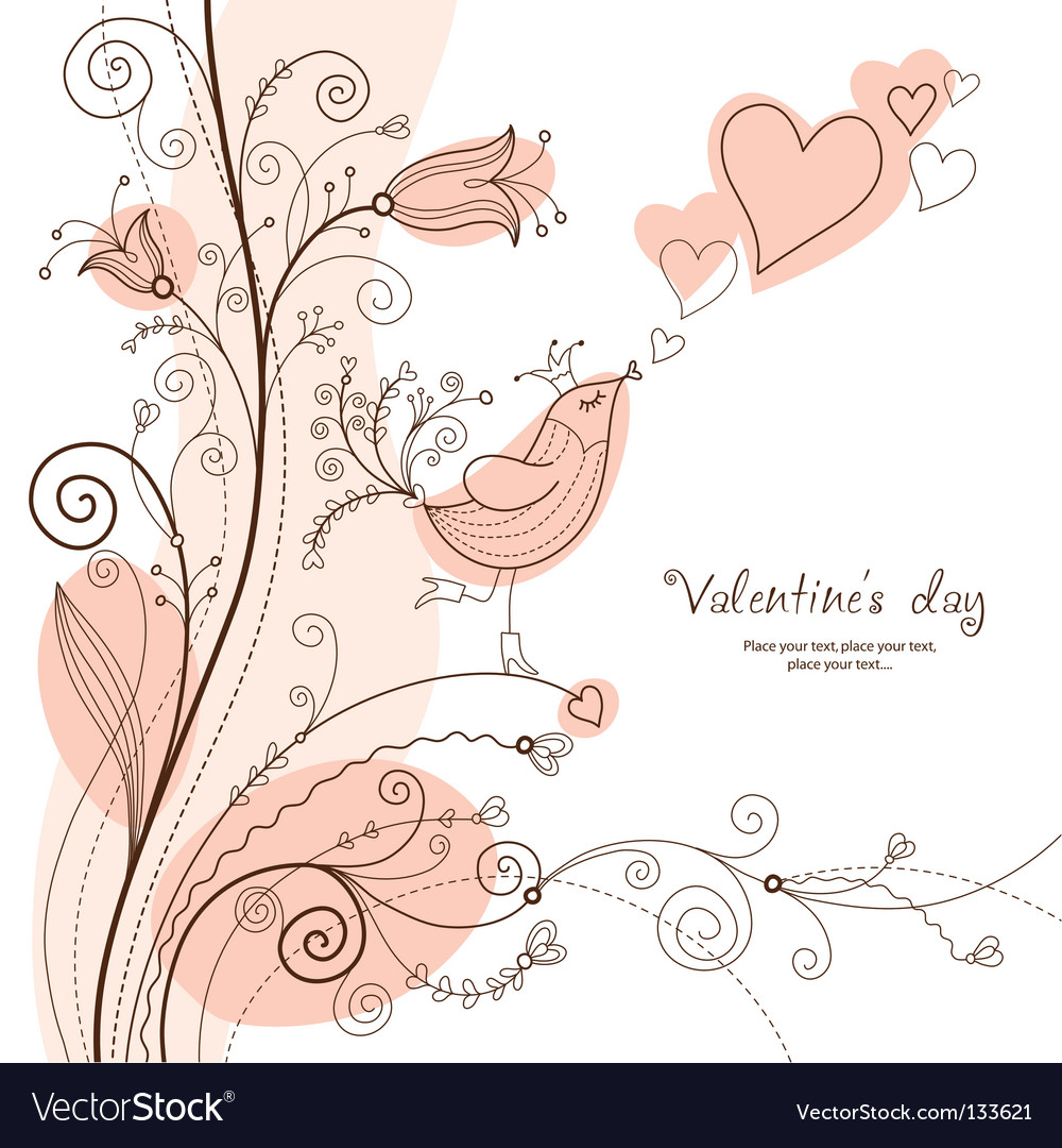 Floral greeting card vector