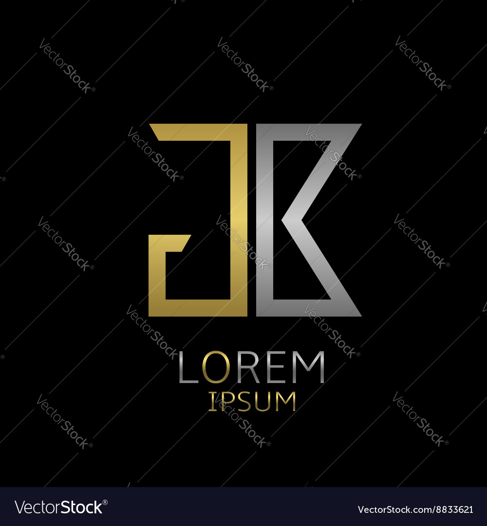 Gb letters logo vector