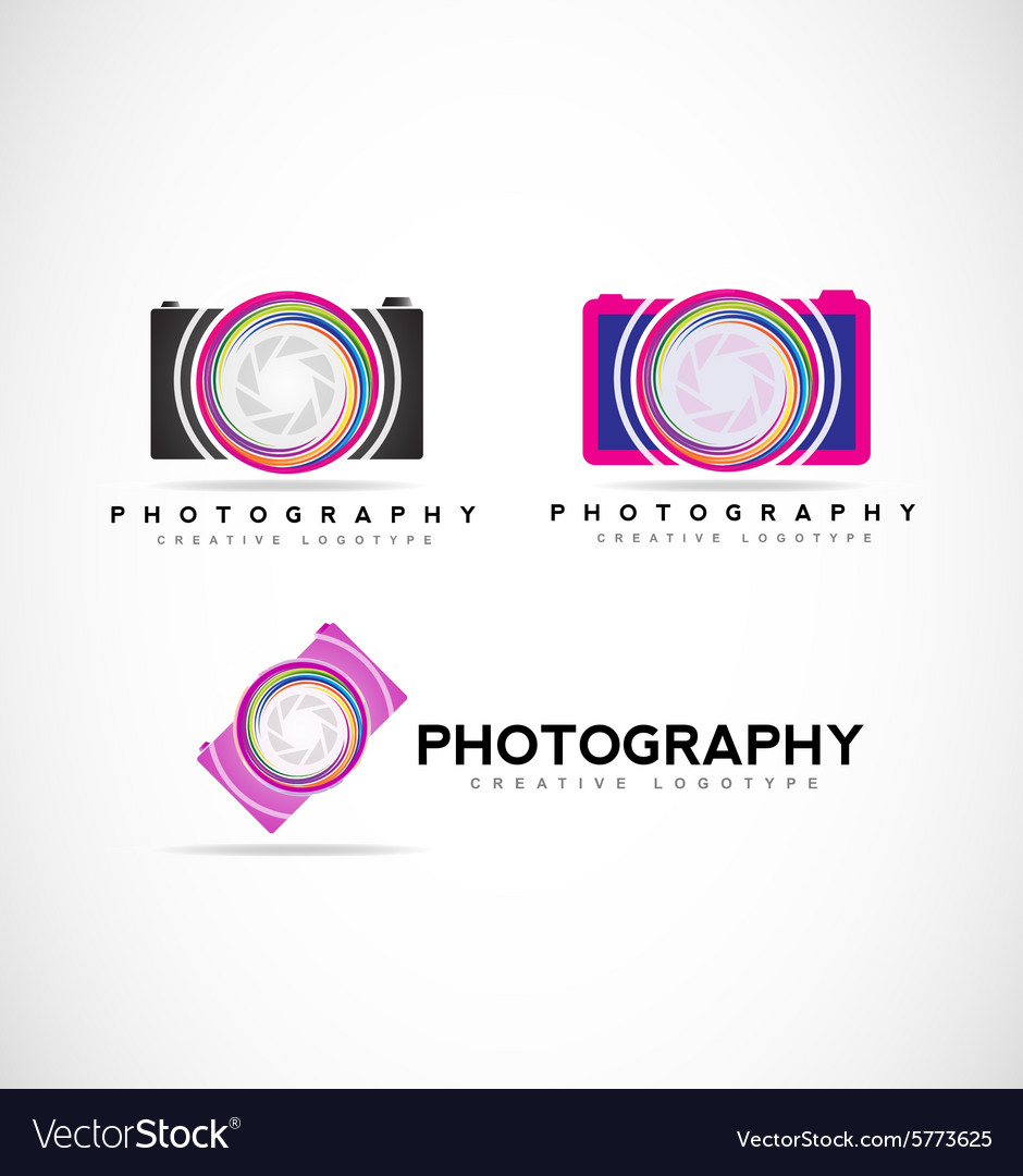 Camera photography logo vector