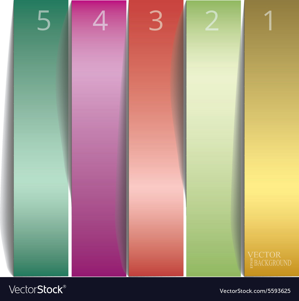 Vertical sample stickers for various banner vector