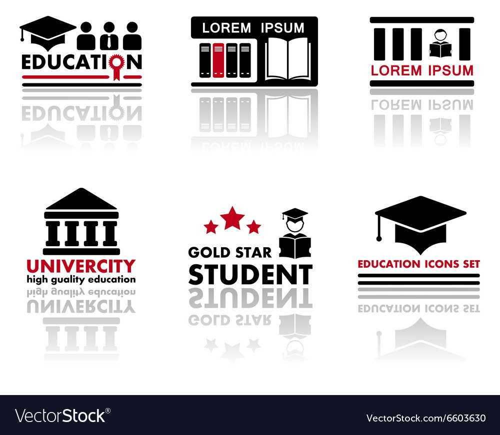 Art set education icons vector