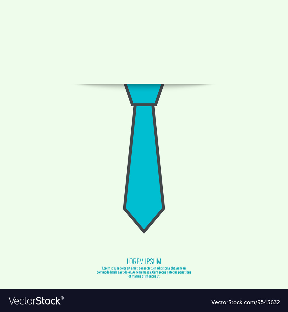 Abstract background with men tie vector