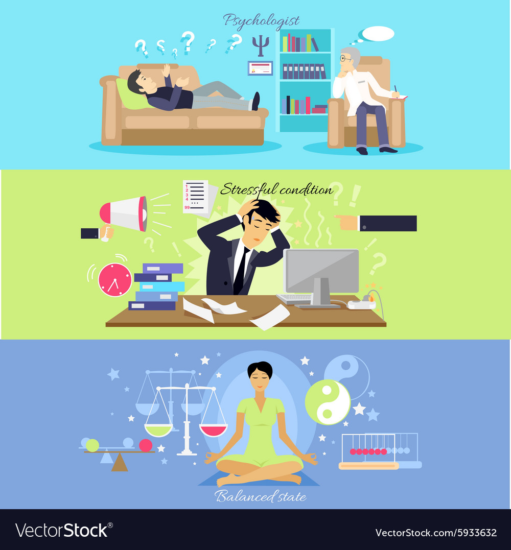 Psychological human mental balance vector