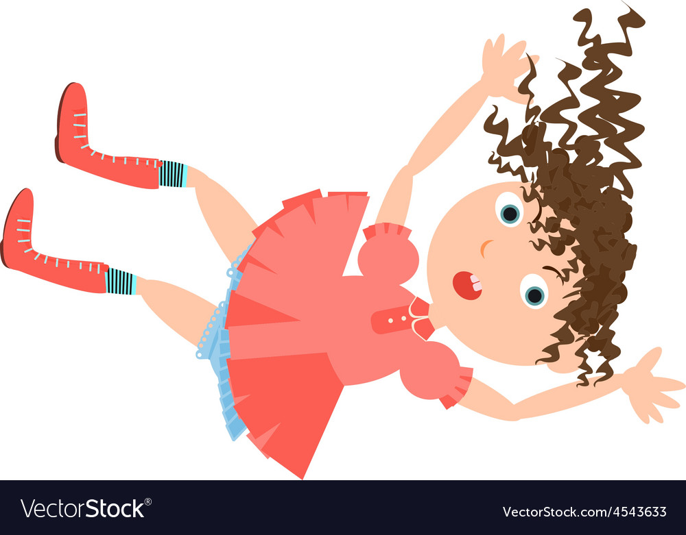 Falling girl rabbit hole vector