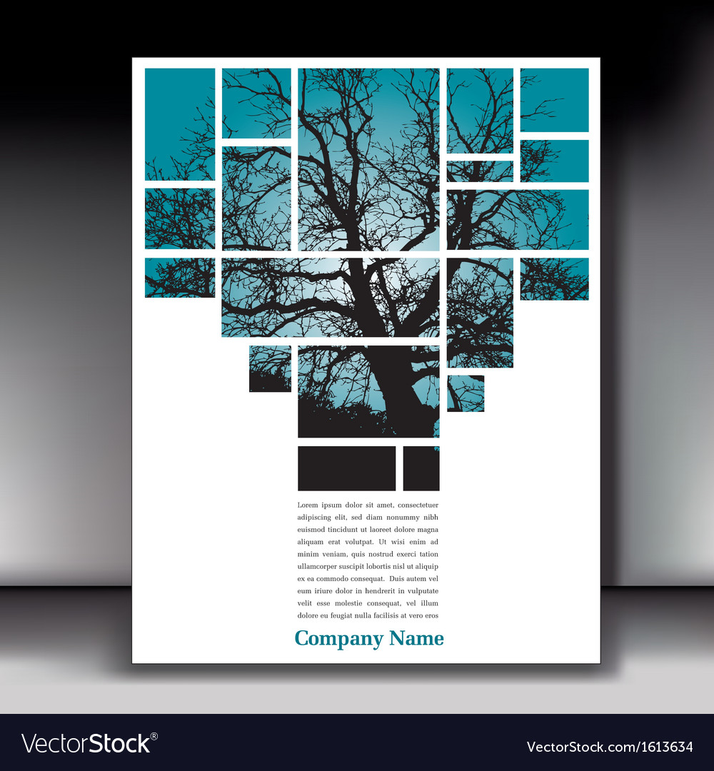 Tree box page with gray border vector