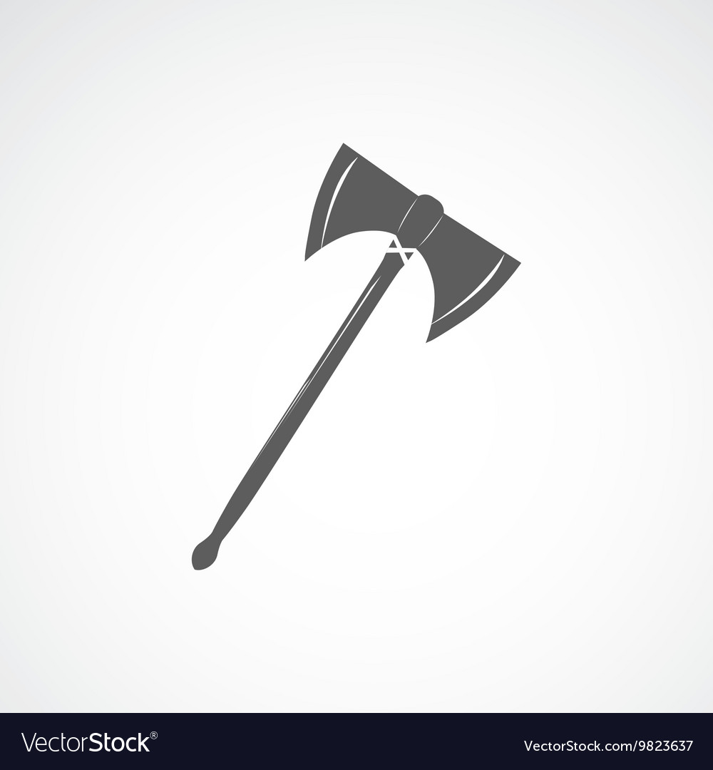 Axe with two sharp blades vector