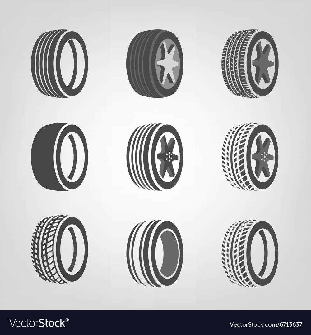 Tires collection vector