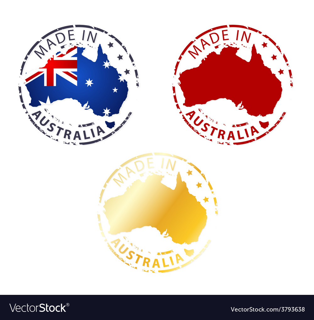 Made in australia stamp vector