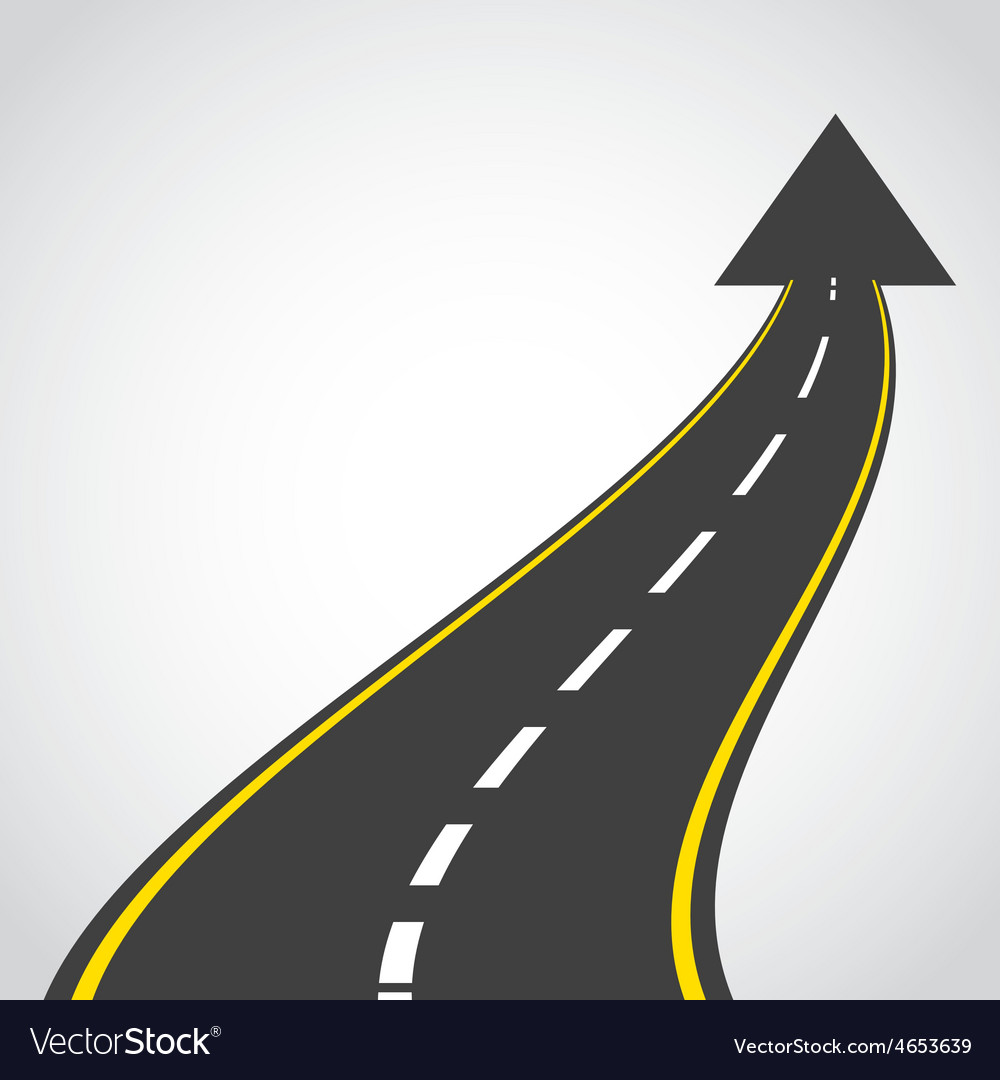Road infographics vector