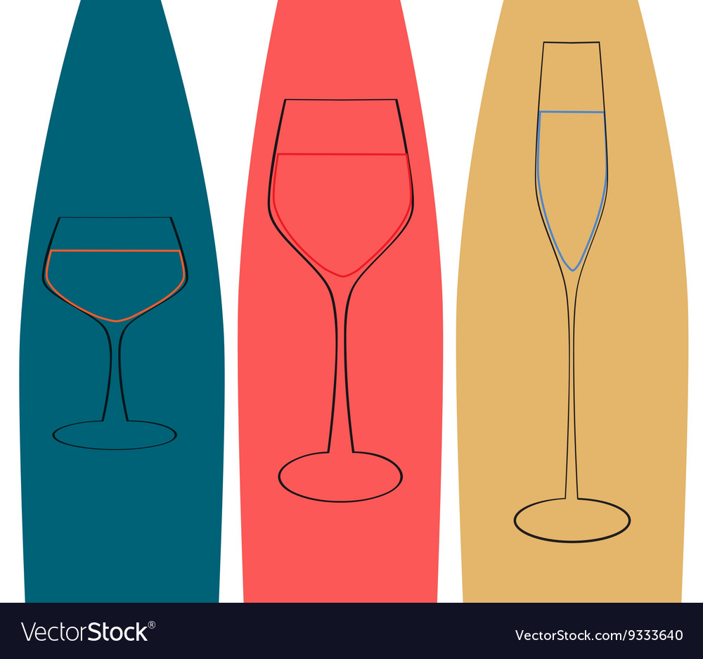 Glass and bottle vector