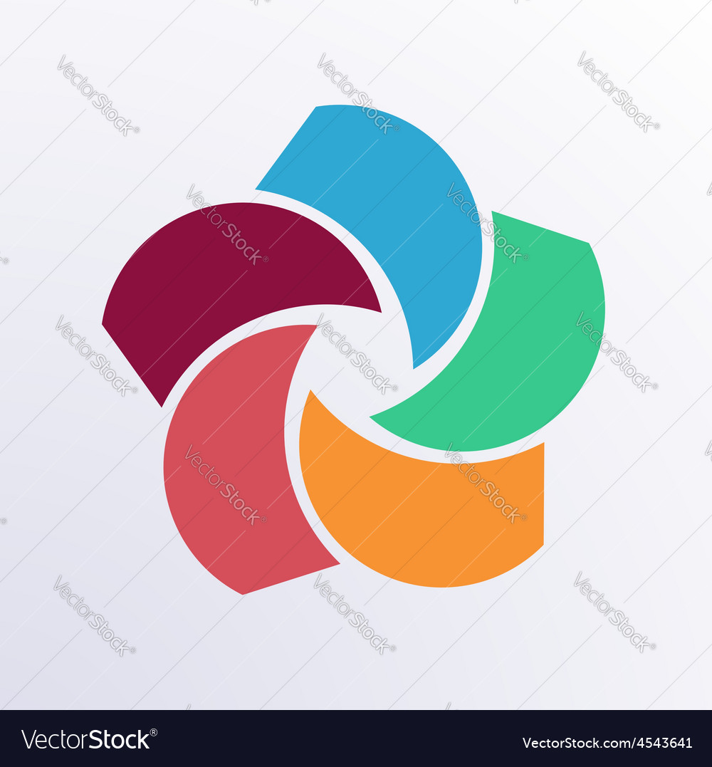 Circle infographic parts vector