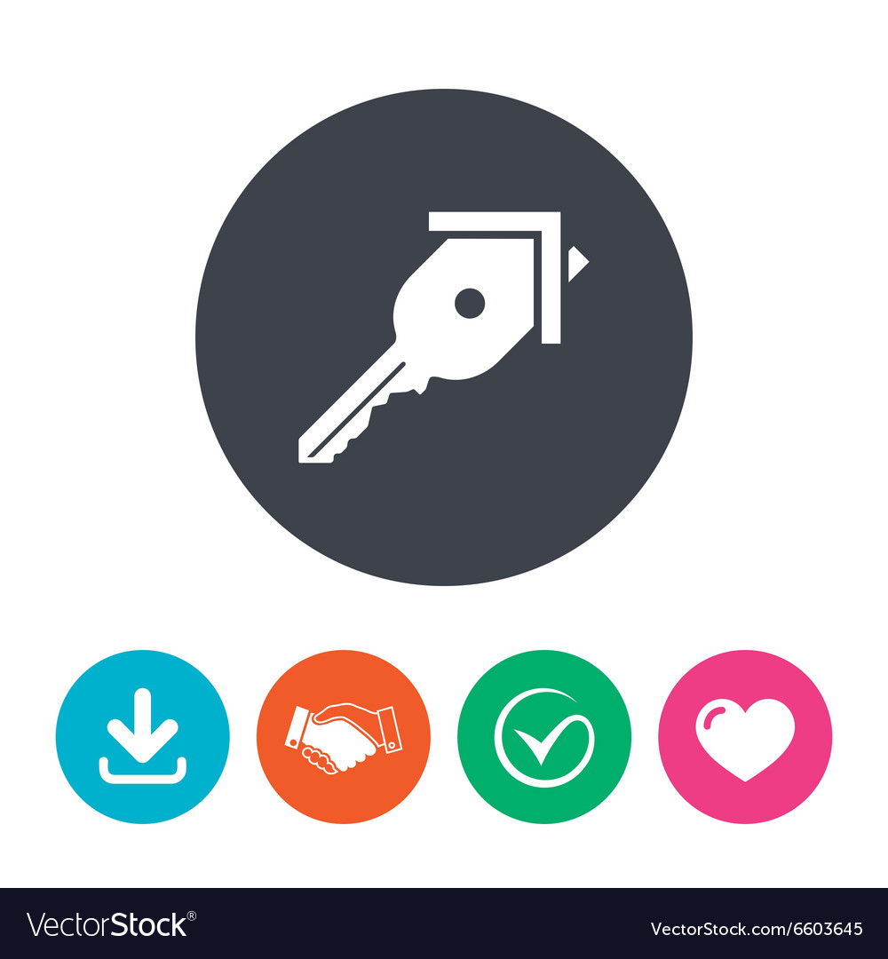 Key from the house sign icon unlock tool vector