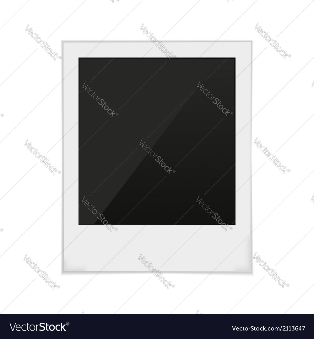 Polaroid frame photo vector
