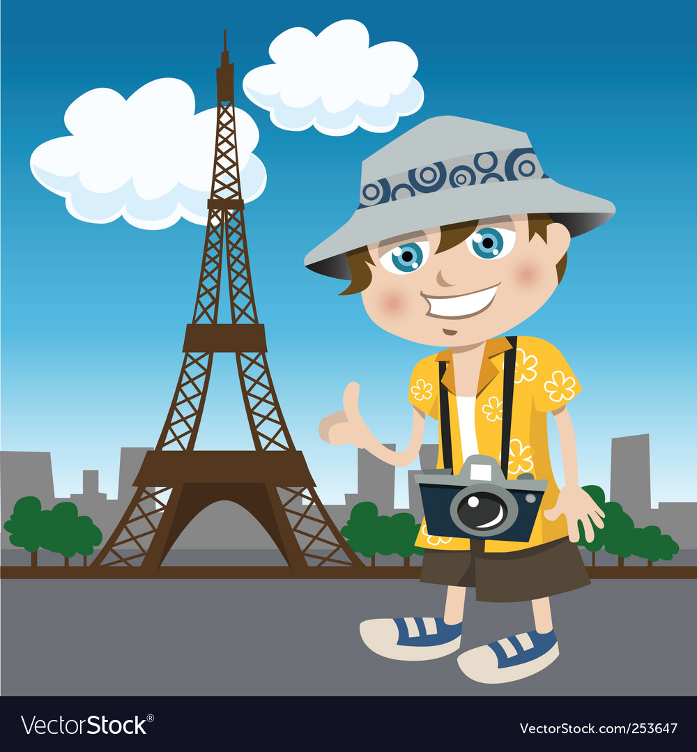 Tourist guy vector