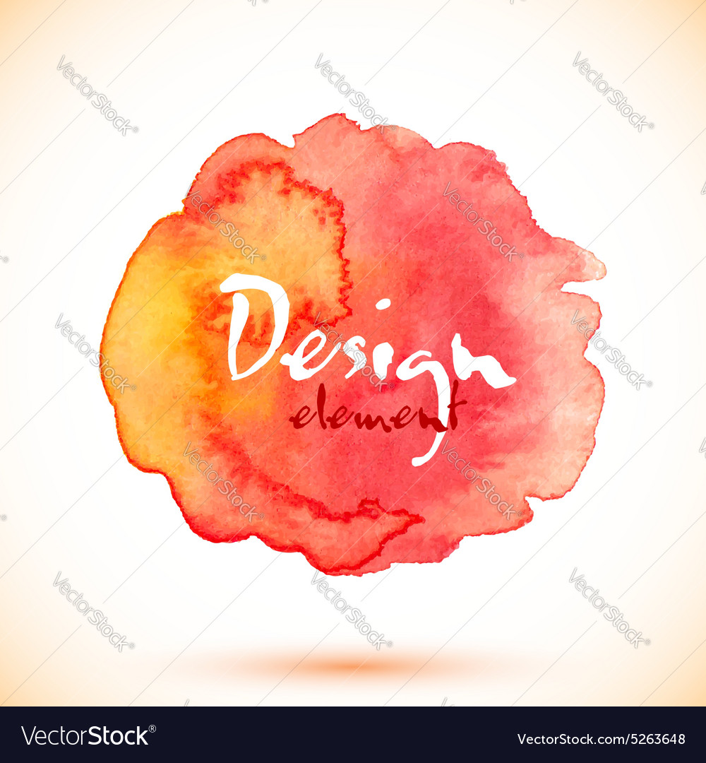 Red watercolor isolated stain vector