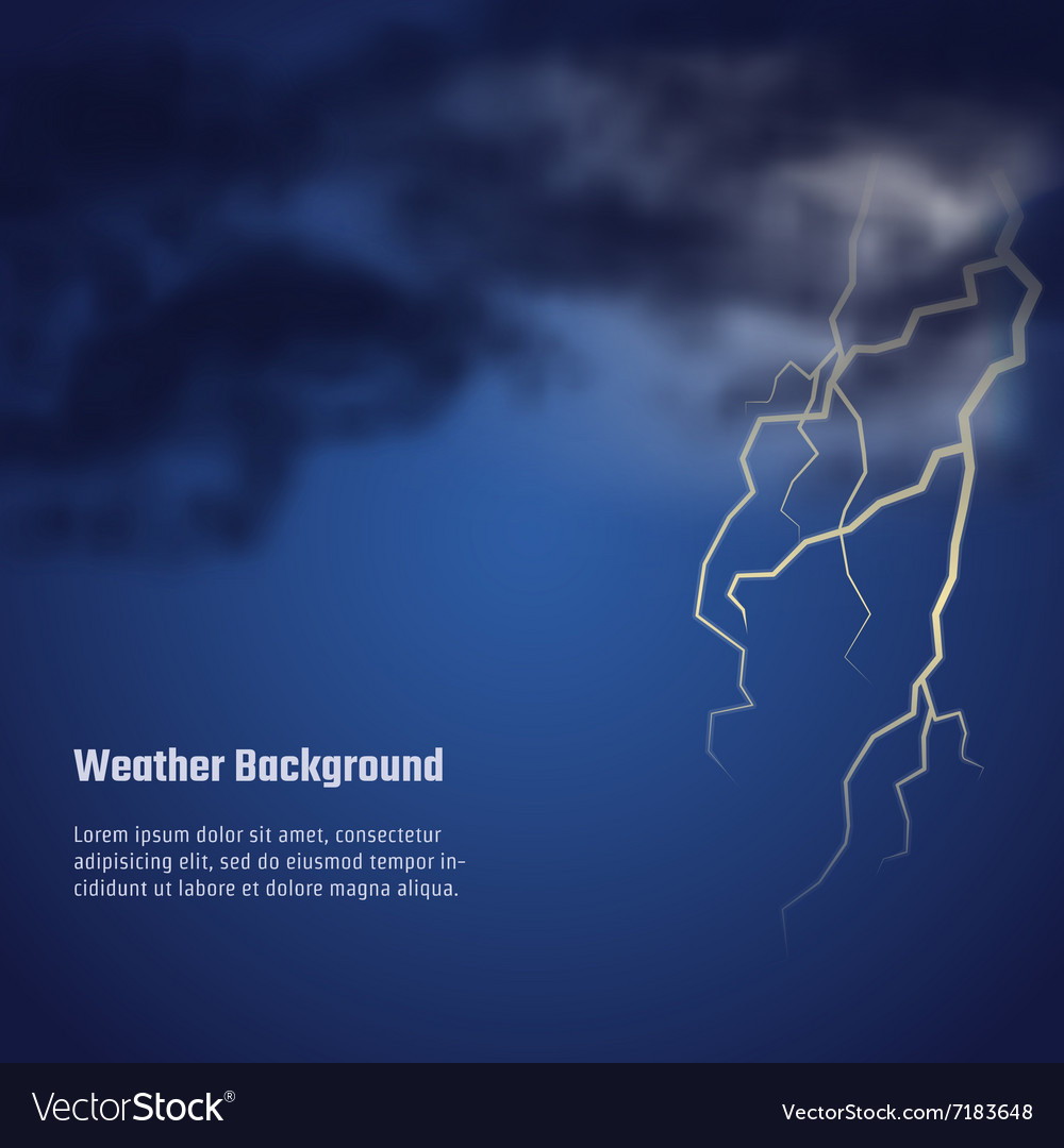Storm weather bg vector