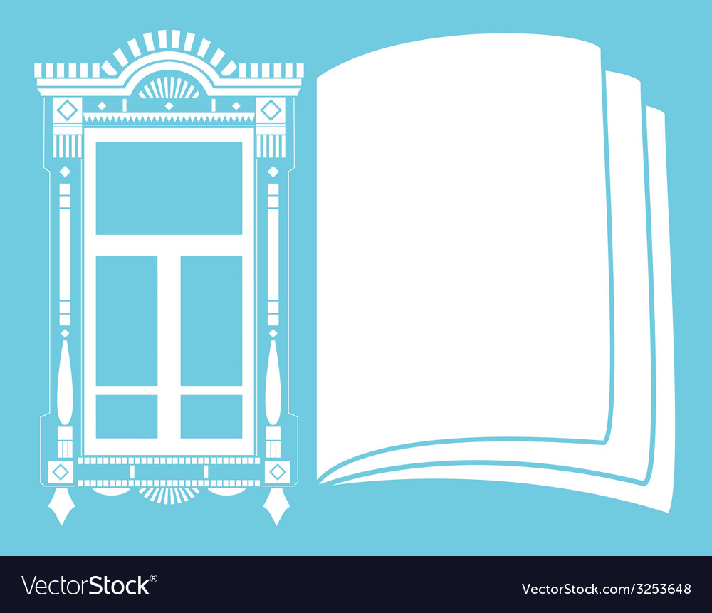 Traditional russian window vector