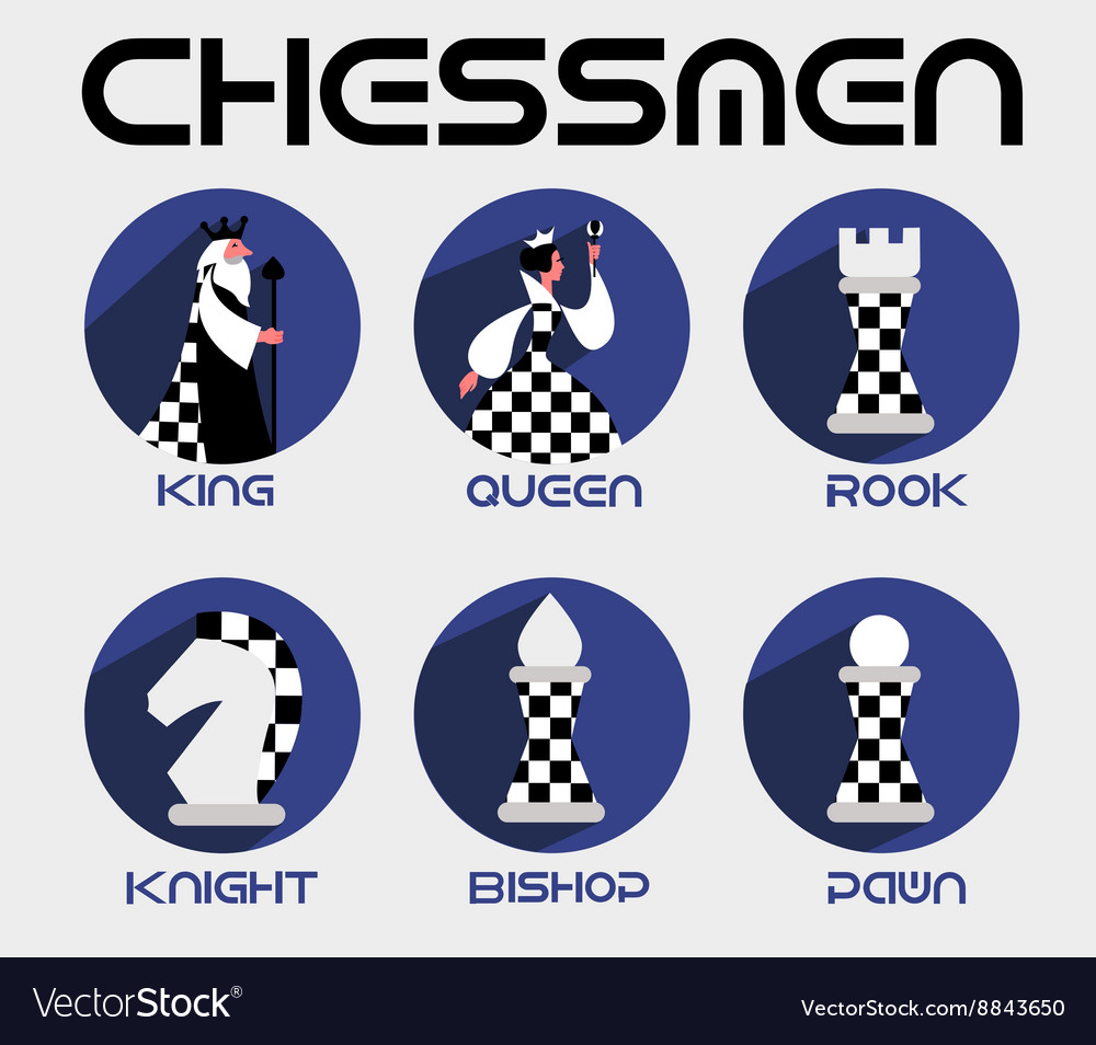 Queen king in a flat style vector