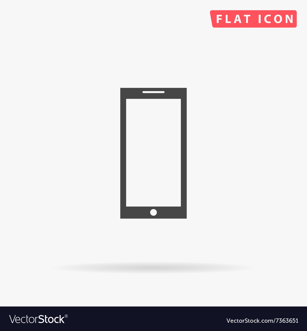 Smartphone simple flat icon vector