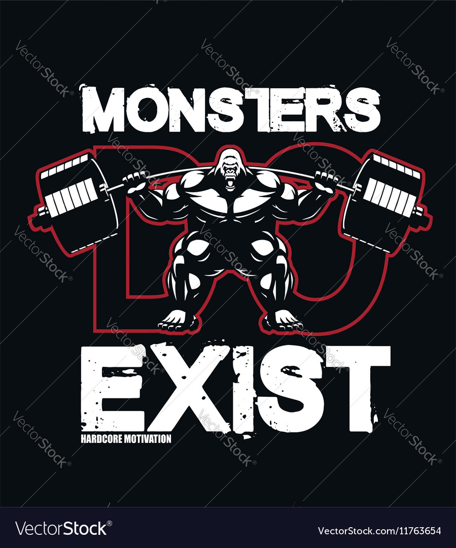Bodybuildingmonsterfitness vector