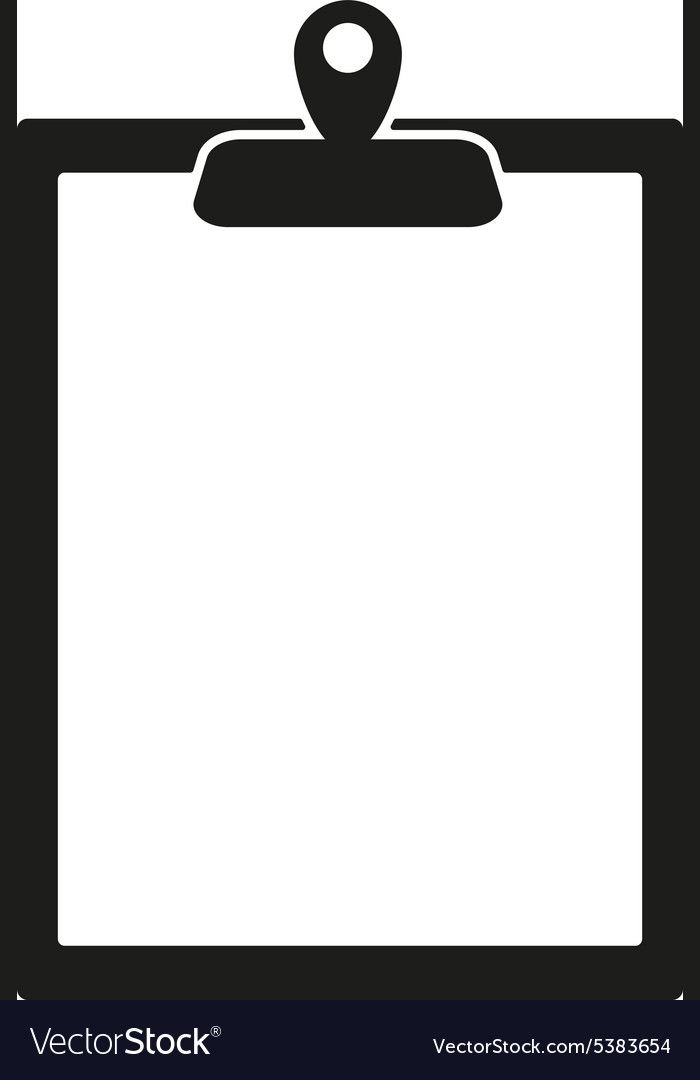 Clipboard icon paperwork symbol flat vector