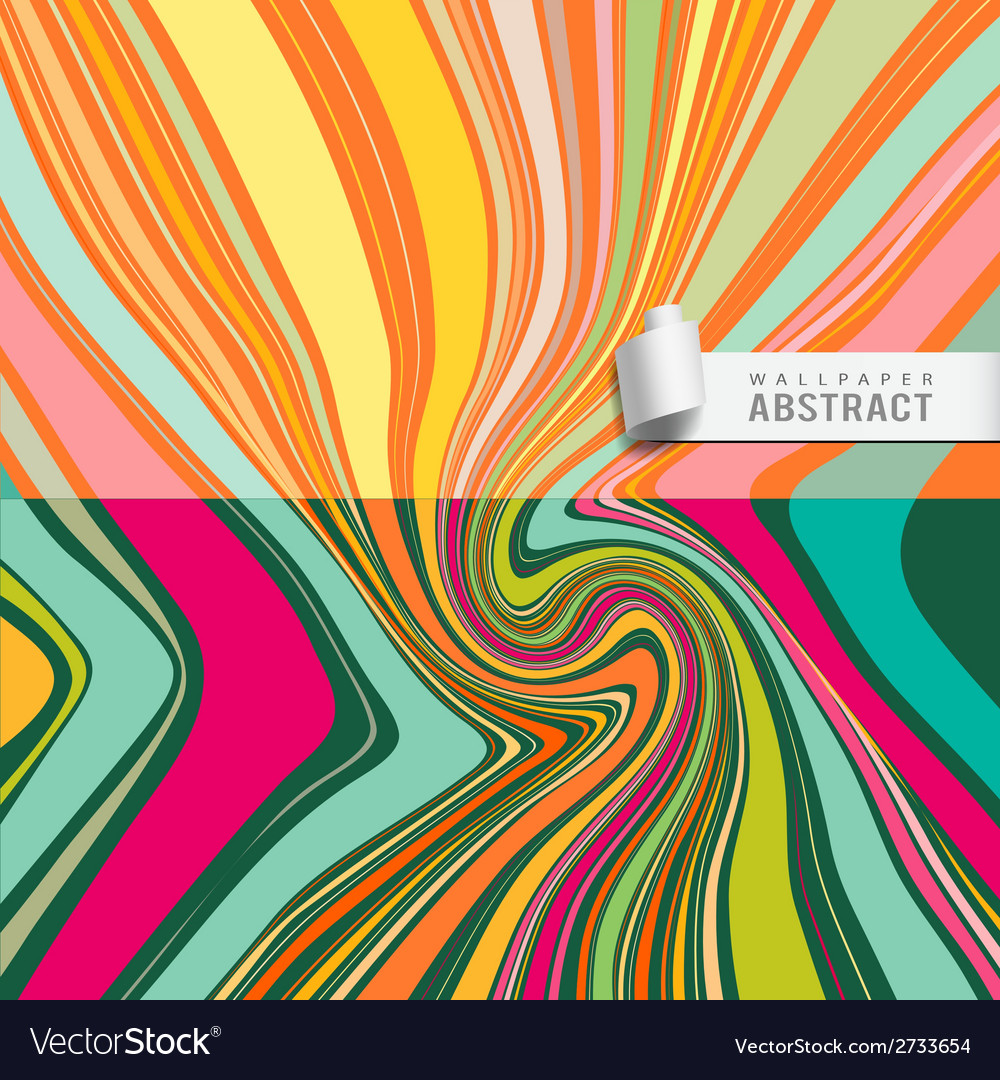 Wallpaper abstract wave pattern background vector