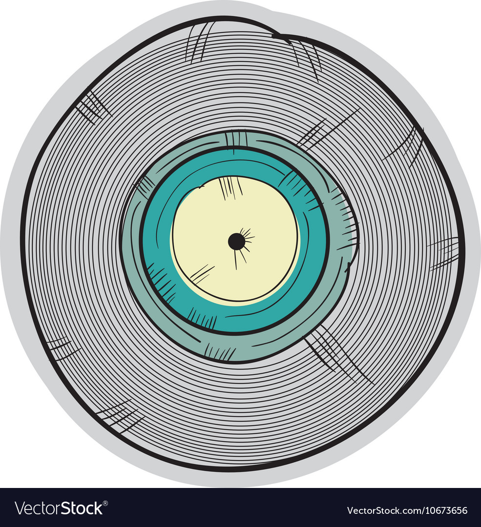 Long play disc vector