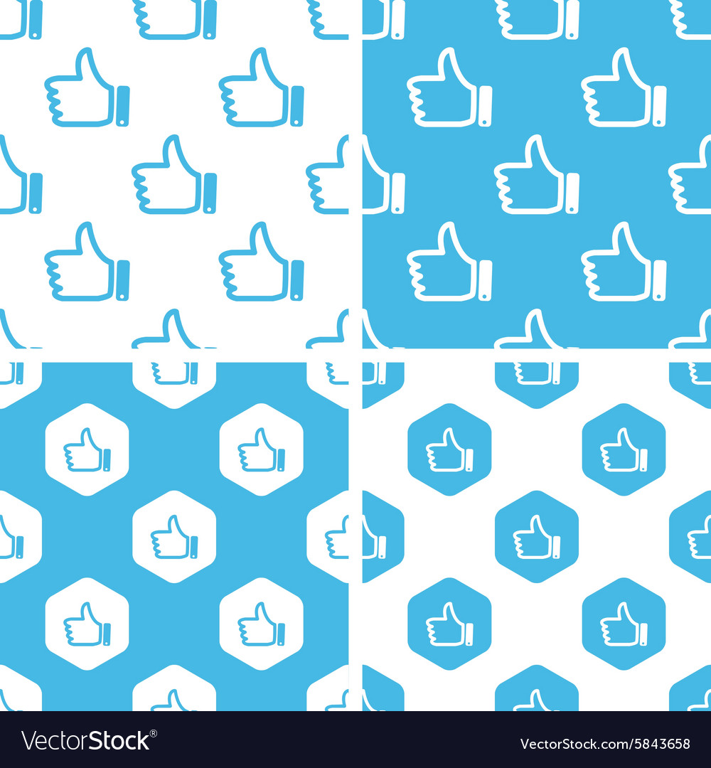 Like patterns set vector