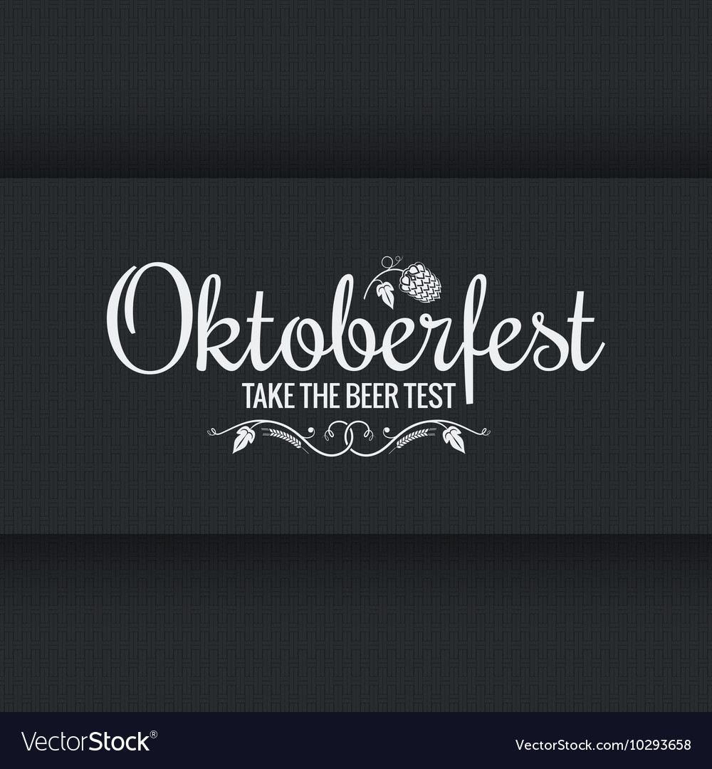 Oktoberfest vintage logo design background vector