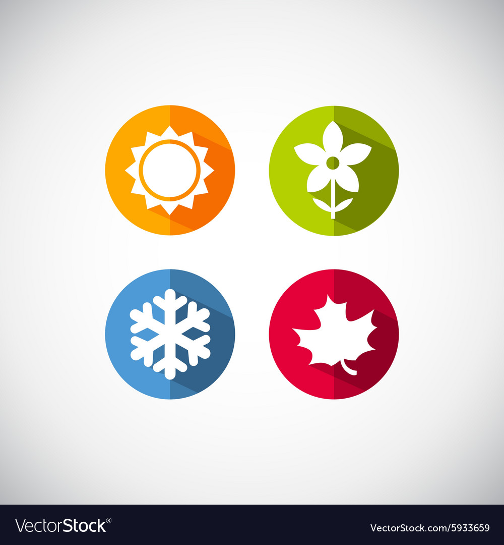 Season icons vector