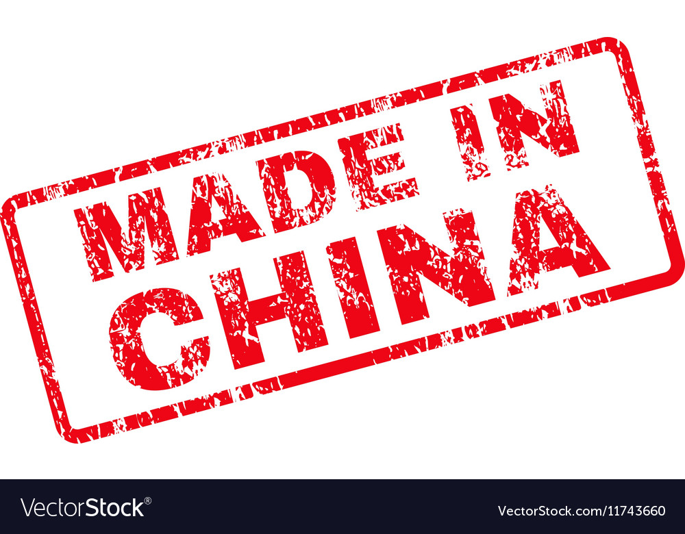 Made in china rubber stamp vector