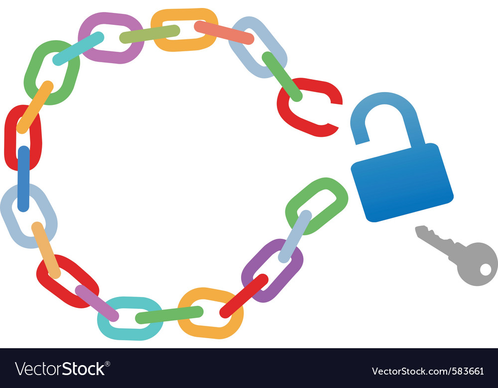 Broken circle chain vector