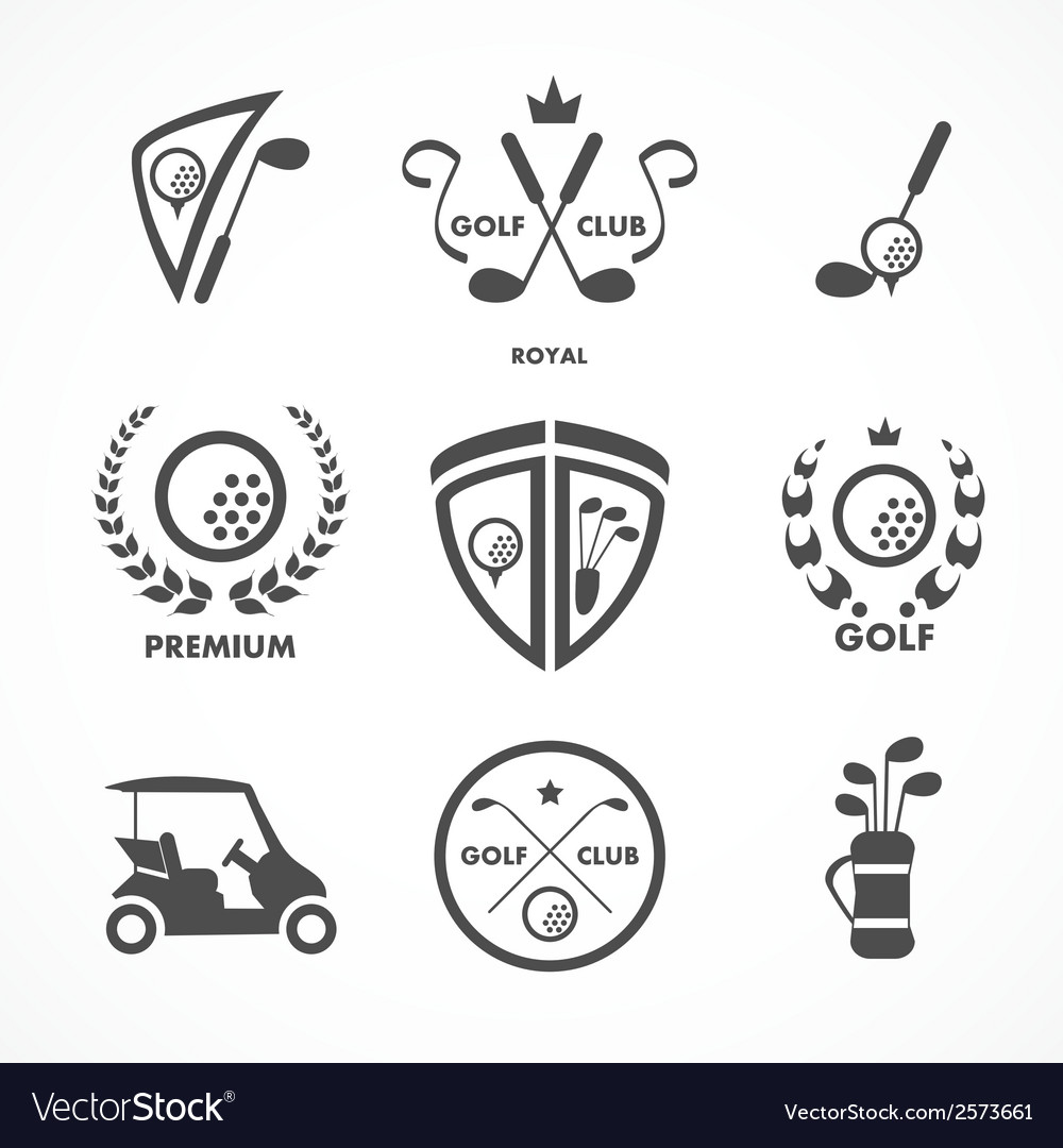 Golf sign and symbols vector