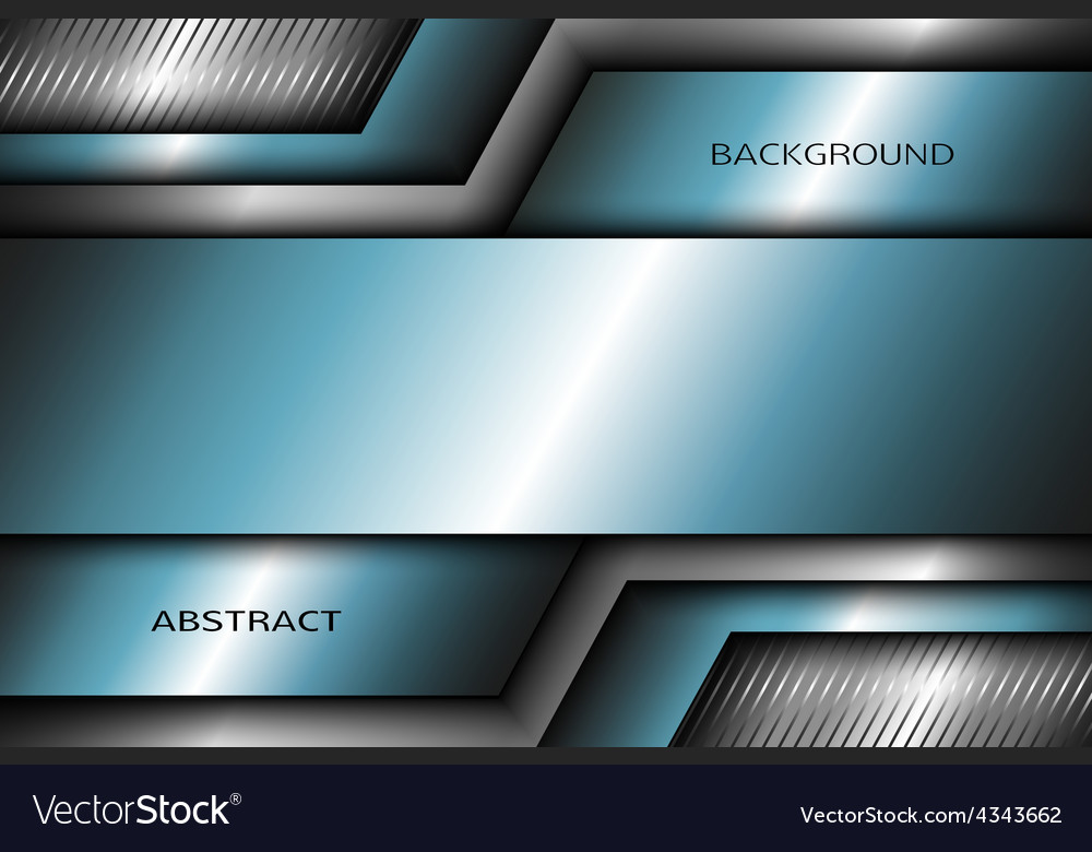 Abstract metal background with turquoise elements vector