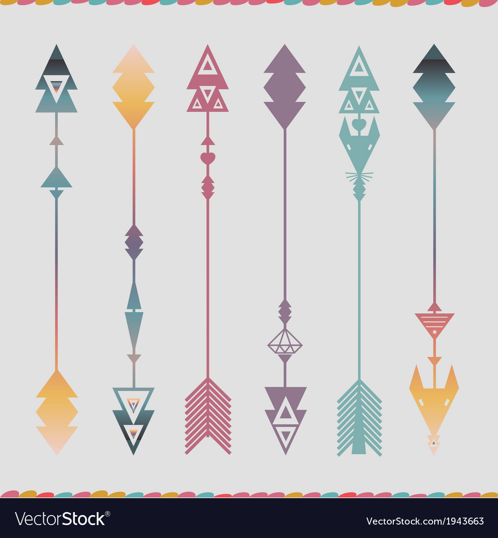 Art arrows collection vector