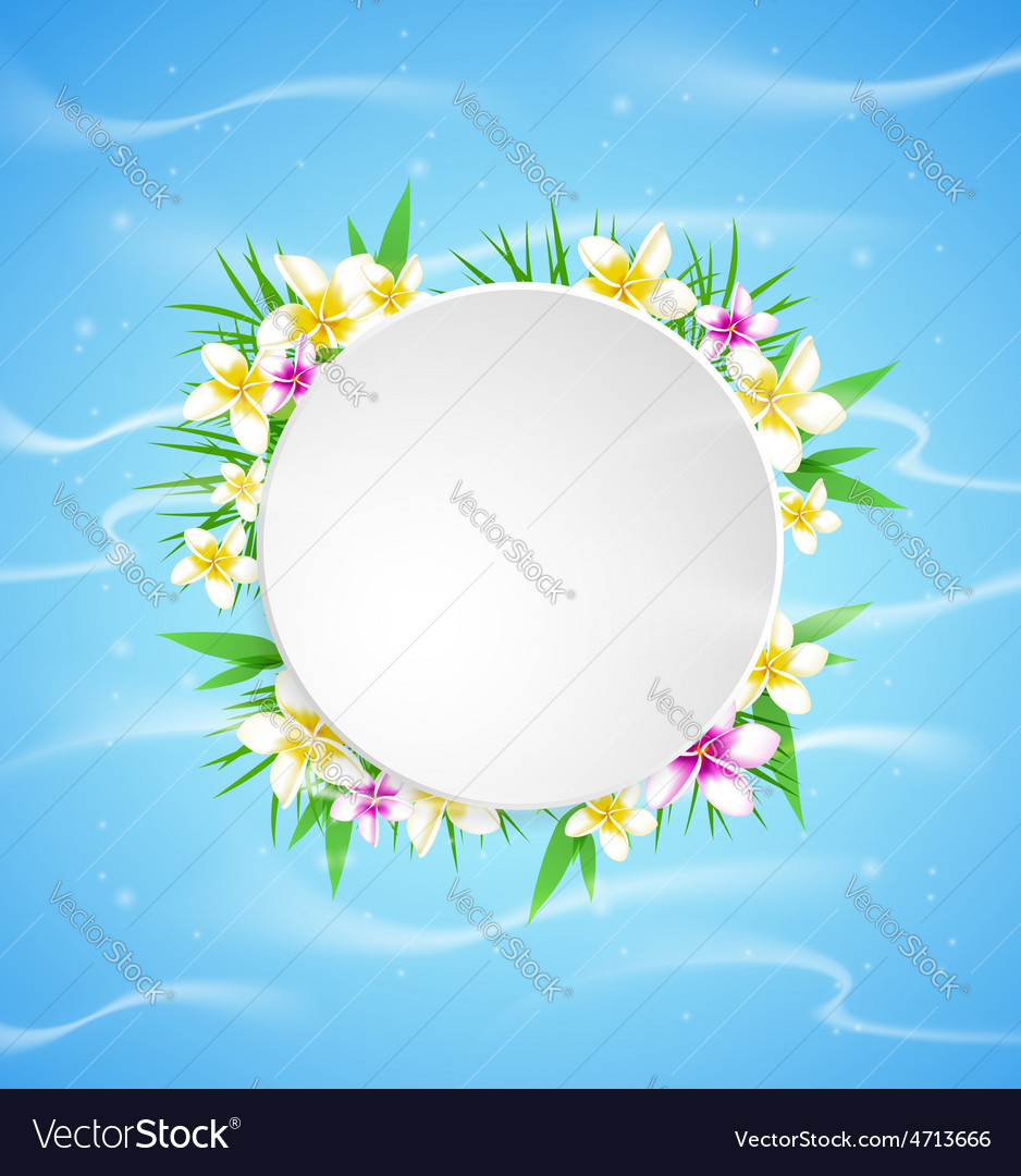 Summer blue marine background vector
