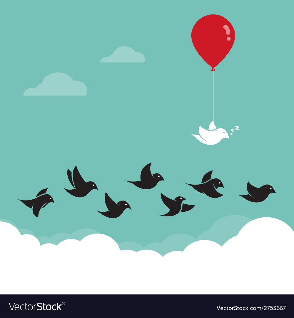 Birds flying in the sky vector