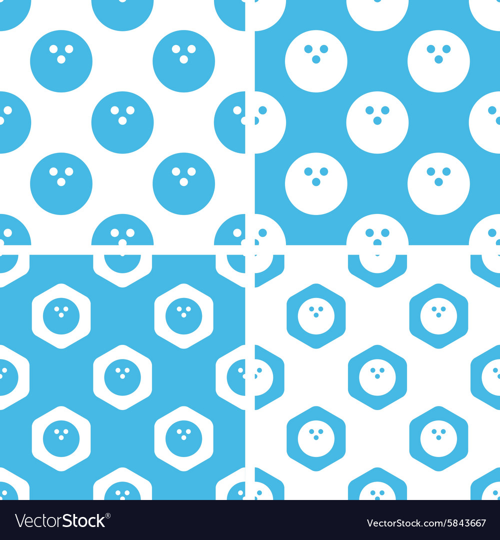 Bowling patterns set vector